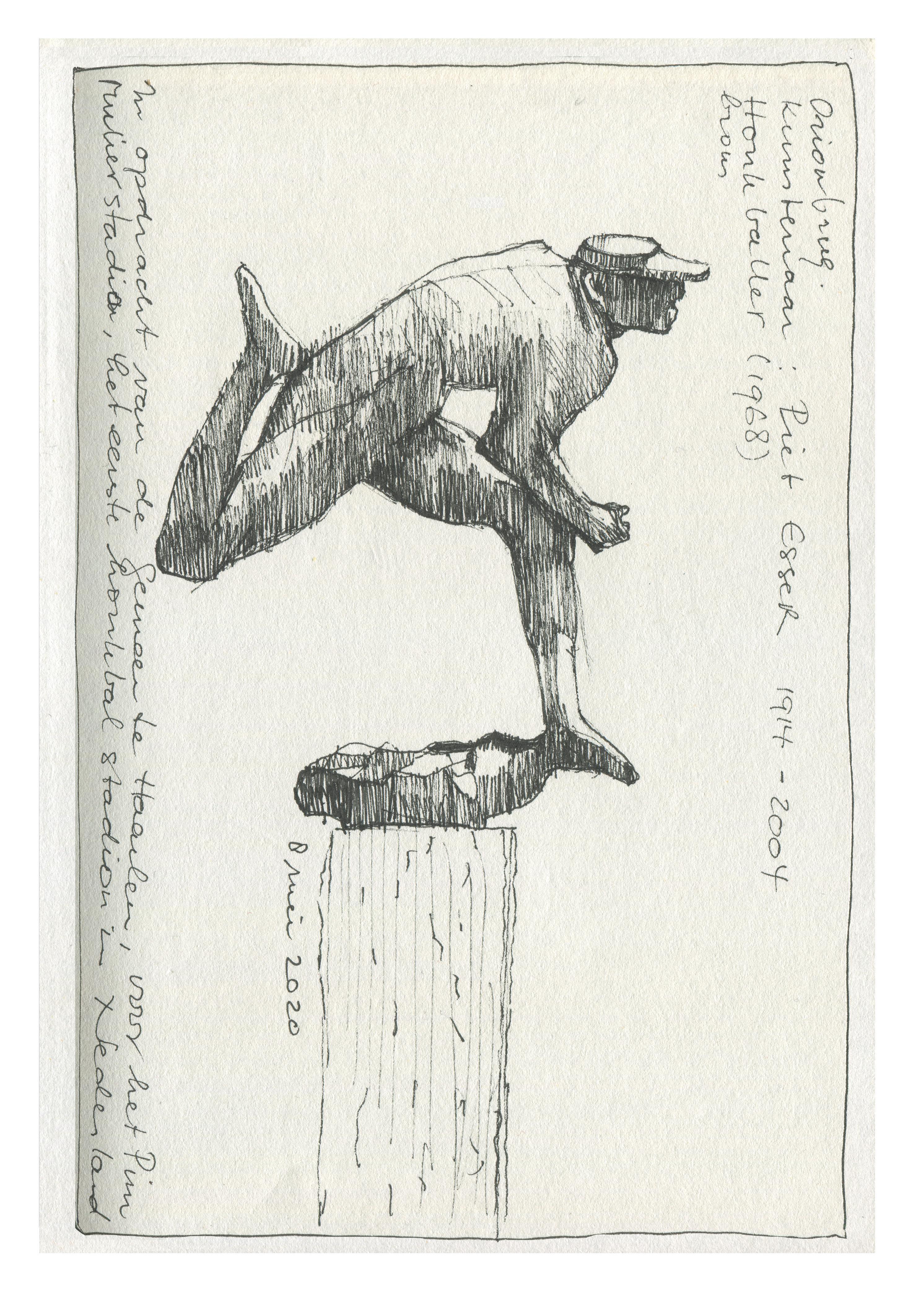 Dorothé van Schagen ging op ontdekkingsreis door Haarlem en tekende alle 116 buitenbeelden