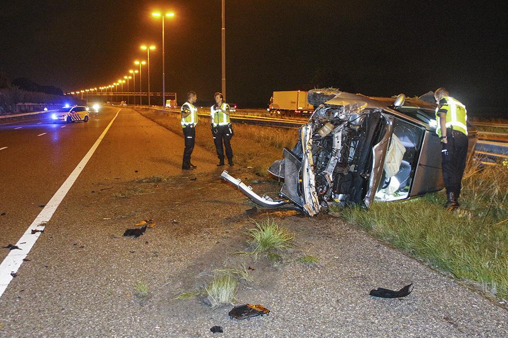 Bestuurster met drugs aangehouden na crash op A4 bij Leidschendam