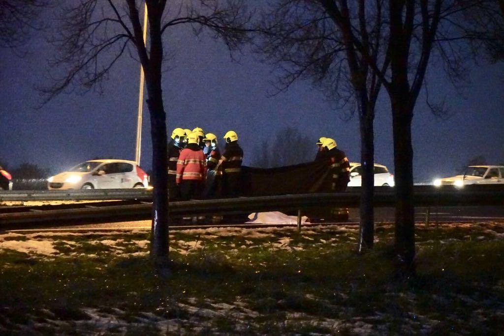 Voetganger op A7 bij Berkhout overleden na aanrijding