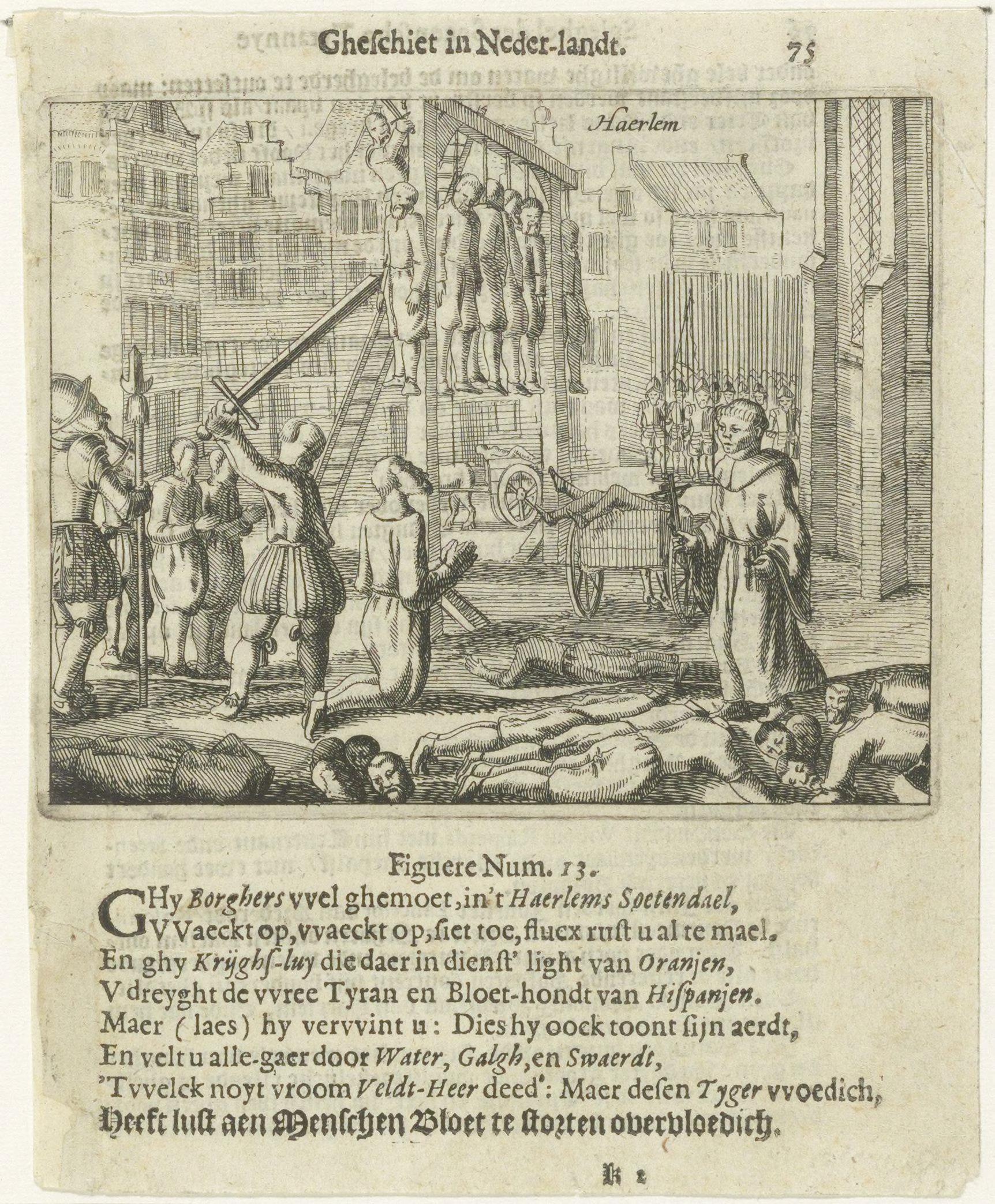 Waalse officier gebood knecht hem dood te schieten, Haarlem ging in 1573 door de Spanjaarden ten onder