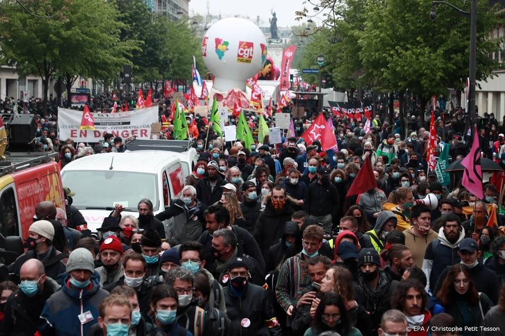 Duizenden mensen in Frankrijk de straat op bij '1 mei-protesten'