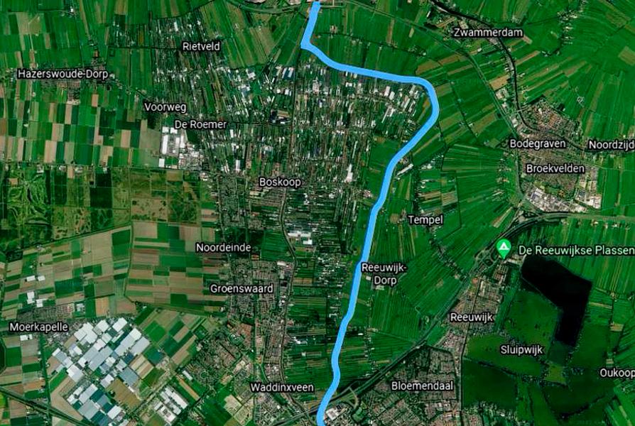 Rijn Gouwe Lokaal pleit voor aanleg 'Nieuwe-Gouwe' rondom Boskoop en Waddinxveen