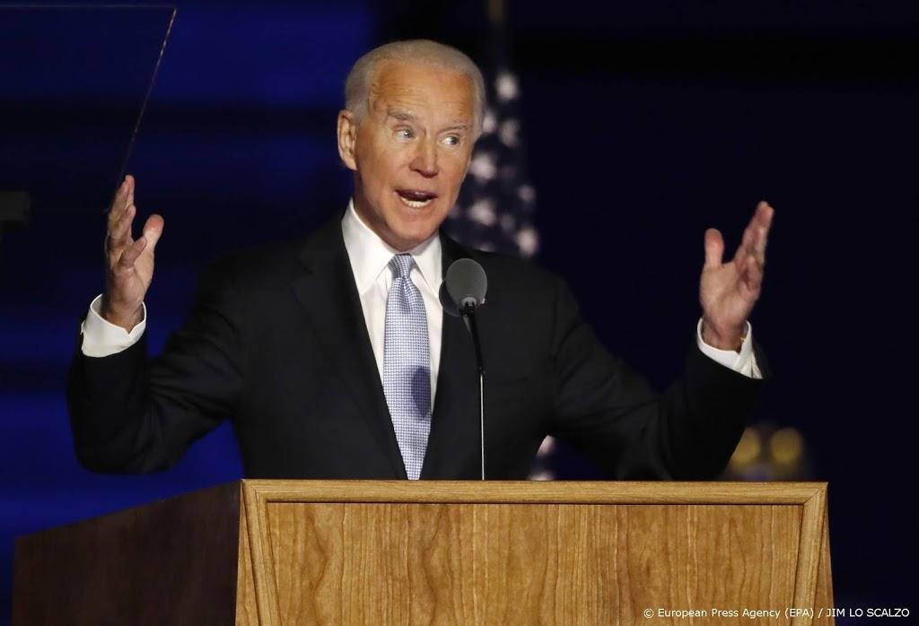 Minuut stilte voor coronadoden tijdens eerste speech Biden