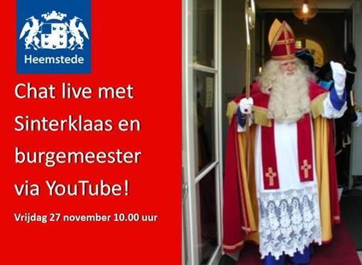 Chatten met sinterklaas, pieten en de Heemsteedse burgemeester op YouTube