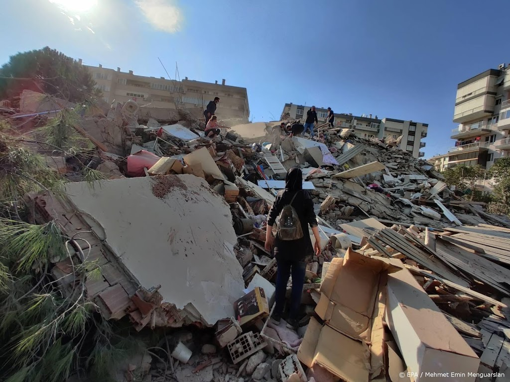 Doden en gewonden door aardbeving Egeïsche Zee