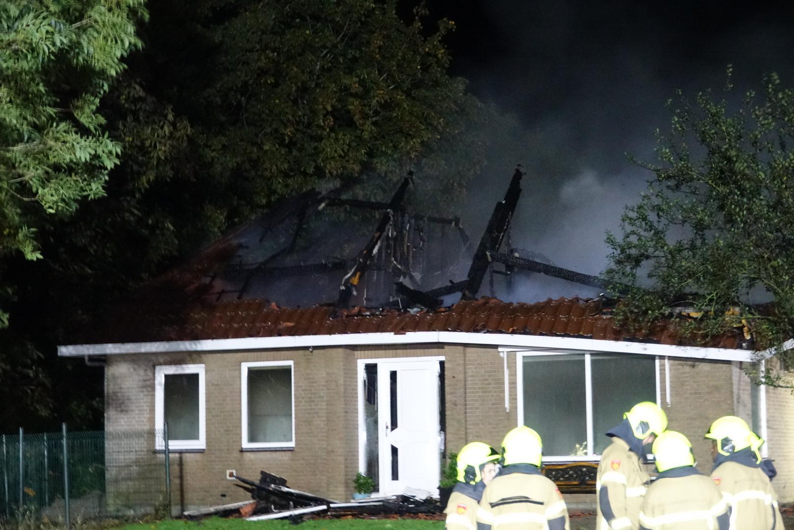 Huis in Wieringerwaard uitgebrand en ingestort