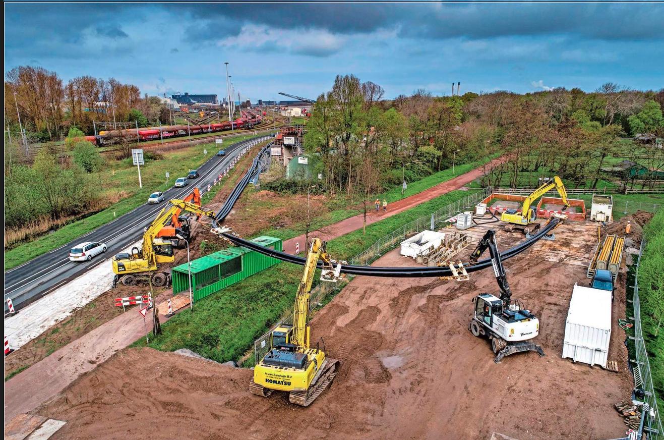 Alle mantelbuizen voor elektriciteitskabels van Tennet liggen in de grond, tussen Holland op zijn Smalst en Landgoed Westerhout in Beverwijk
