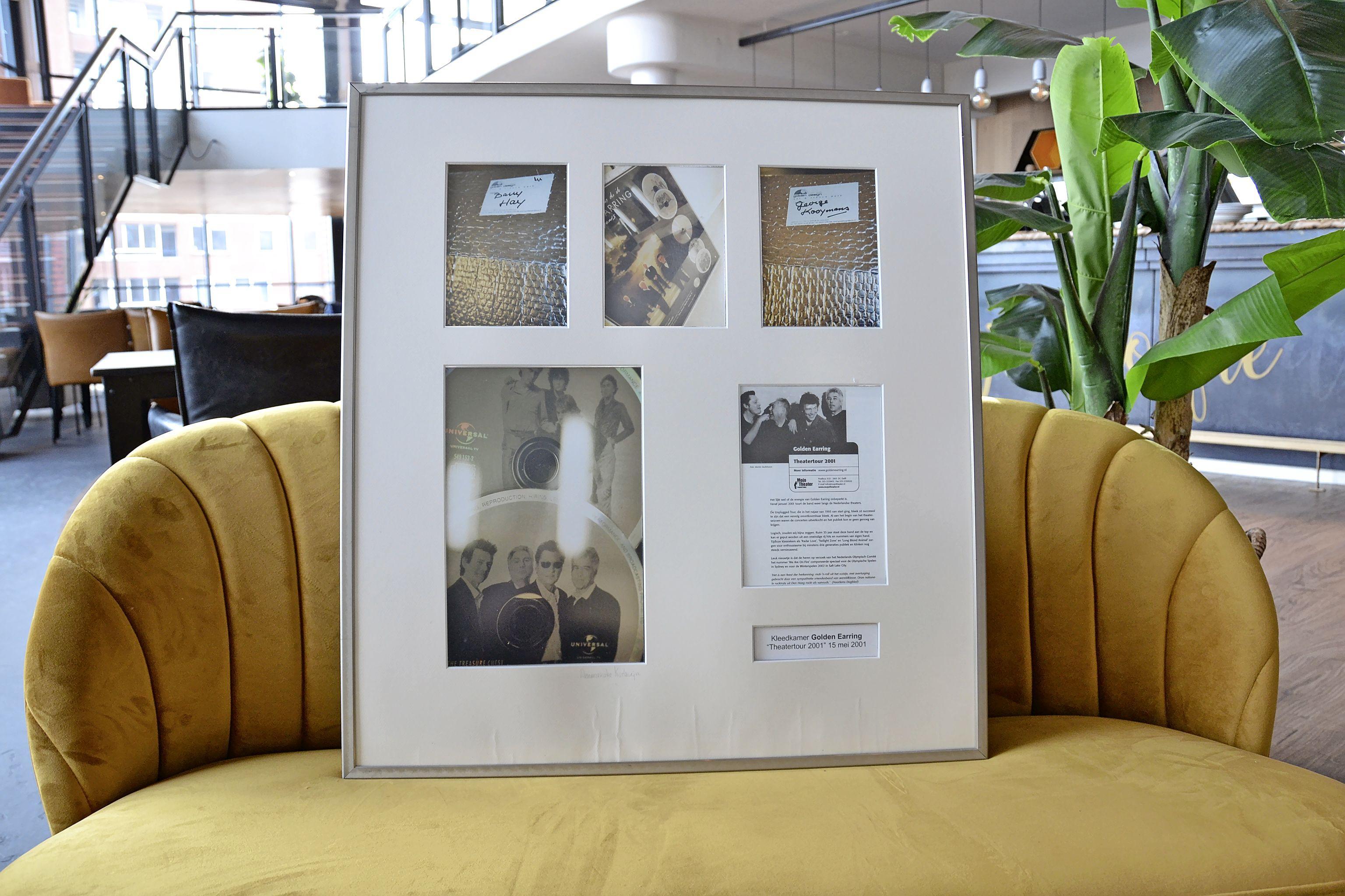 Benefietveiling voor 'Zaanstormend' levert ruim 1200 euro op: fotocollage Golden Earring meest populair