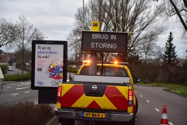 Waddingersluisburg Leiden kampt met storing, verkeer moet omrijden