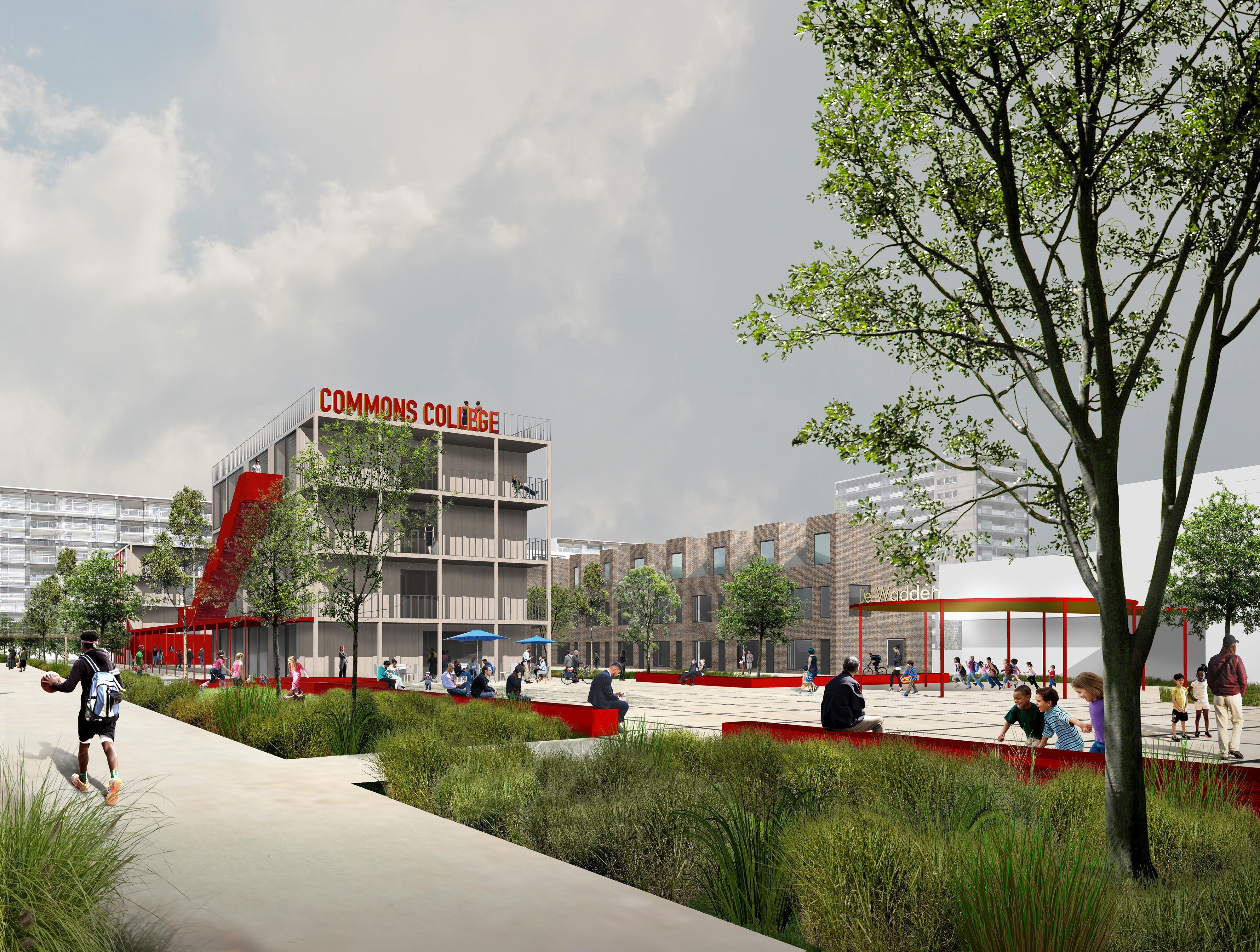 Architectuurcentrum Haarlem laat online plannen zien voor mooier en beter Schalkwijk; wegnemen van 'onveilig gevoel'