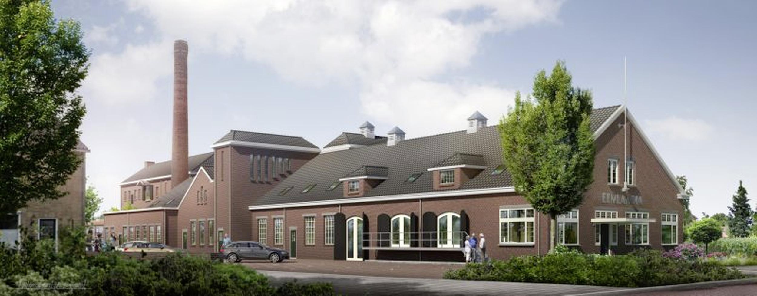 Het Gooi en Omstreken koopt 25 huurwoningen in omgebouwde melkfabriek Eemlandia; Oplevering begin volgend jaar