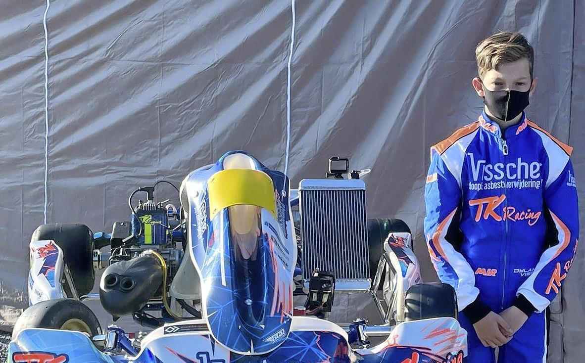 Professioneel karter Dylan Visser (13) racet op circuits in heel Europa: 'Ik ben het liefst dag en nacht op de kartbaan'