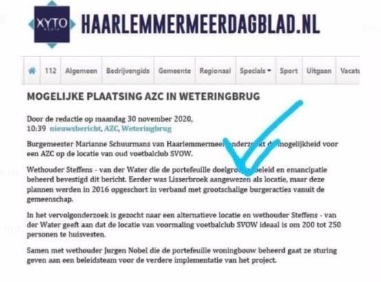 Lichte paniek in Weteringbrug door nepnieuws over asielzoekers