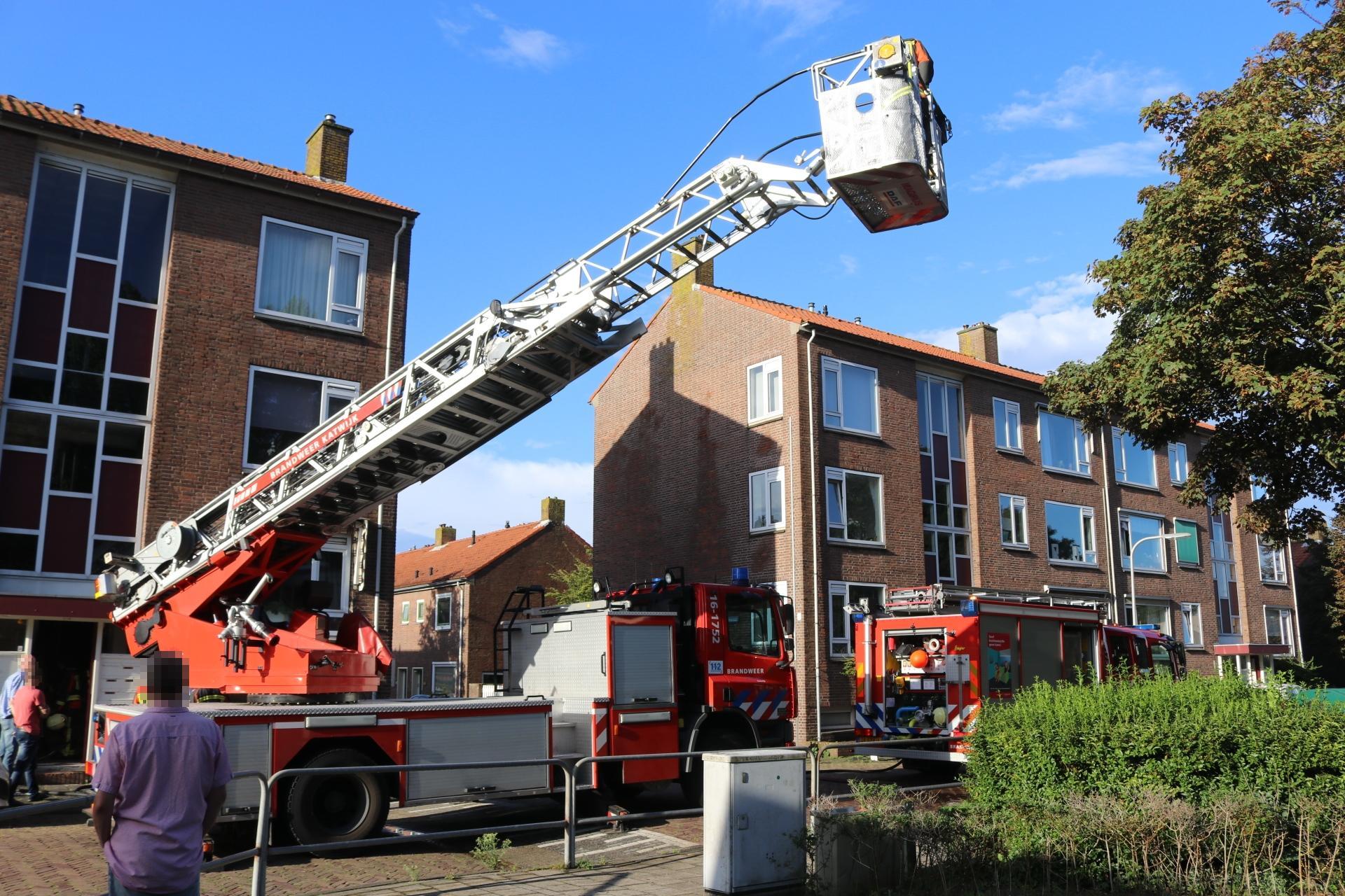 Blikseminslag veroorzaakt brand in portiekwoning Katwijk