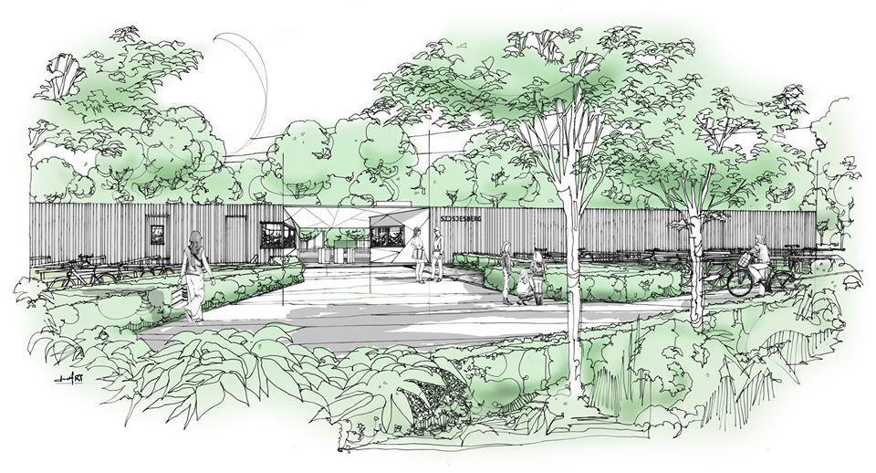 Zwembad Sijsjesberg in Huizen krijgt een nieuwe entree, 'maar kunnen de oude letters boven de ingang blijven?'