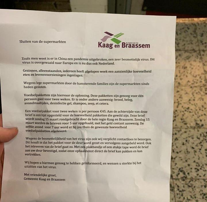 Woede om oplichtingspoging in Kaag en Braassem met 'voedselpakketten tegen corona'