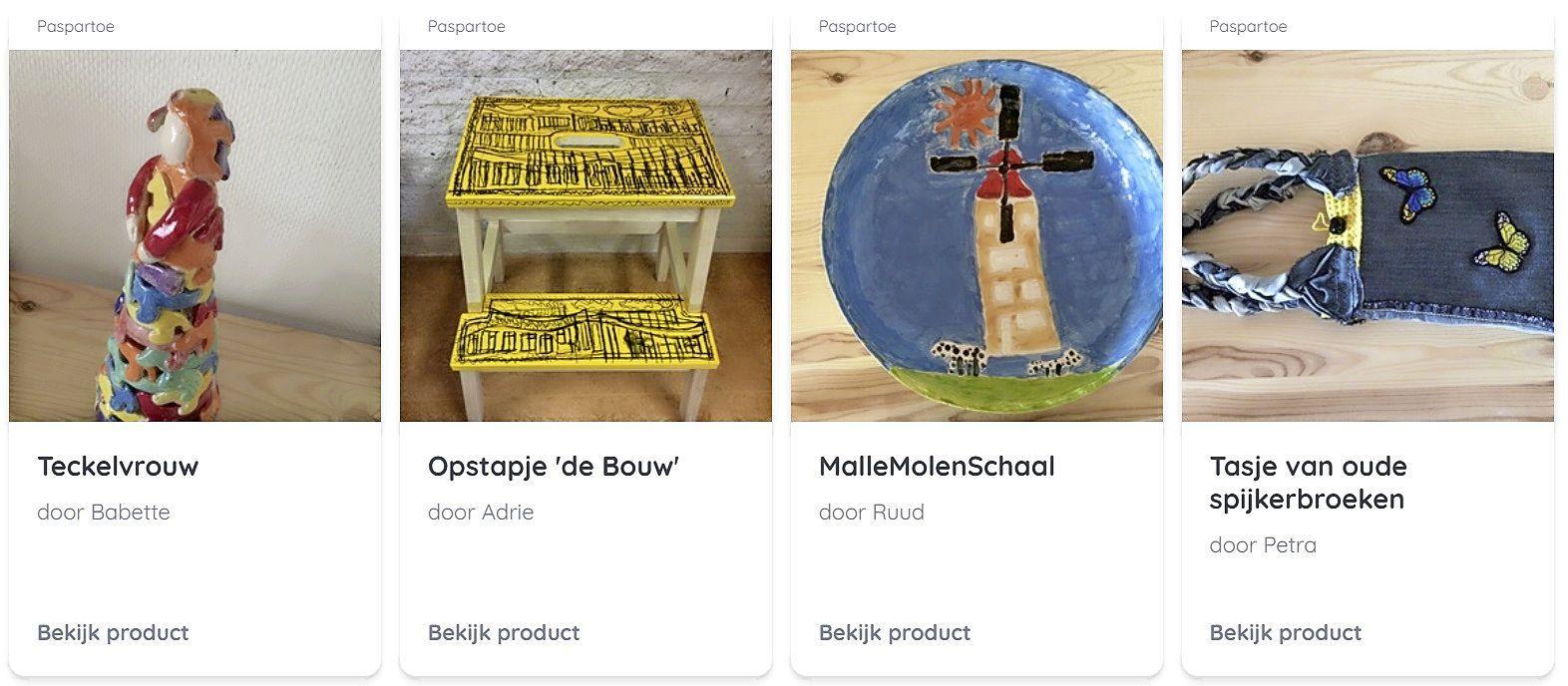Paspartoe uit Noordwijk verkoopt eigen kunst op BlijGoed: 'De kunstenaars zijn er heel erg mee bezig'