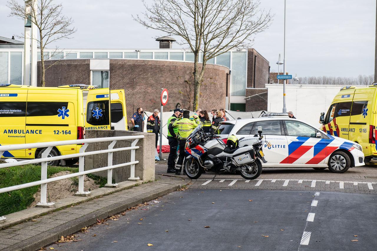 Vrouw gereanimeerd na val met fiets in Hoofddorp