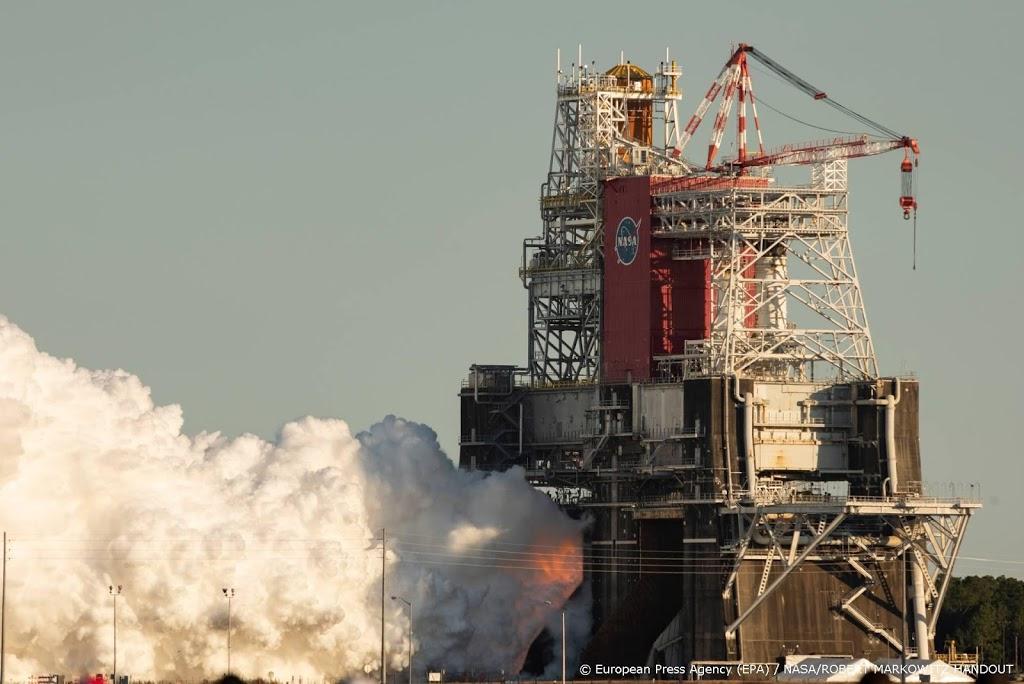 Test met megaraket voor NASA's maanmissies vroegtijdig afgebroken