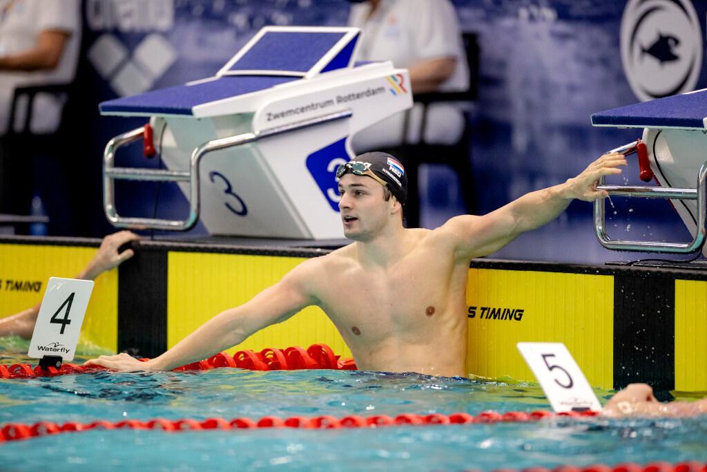 Zwemmer Arno Kamminga (Katwijk) scherpt Nederlands record op 50 meter school aan [video]