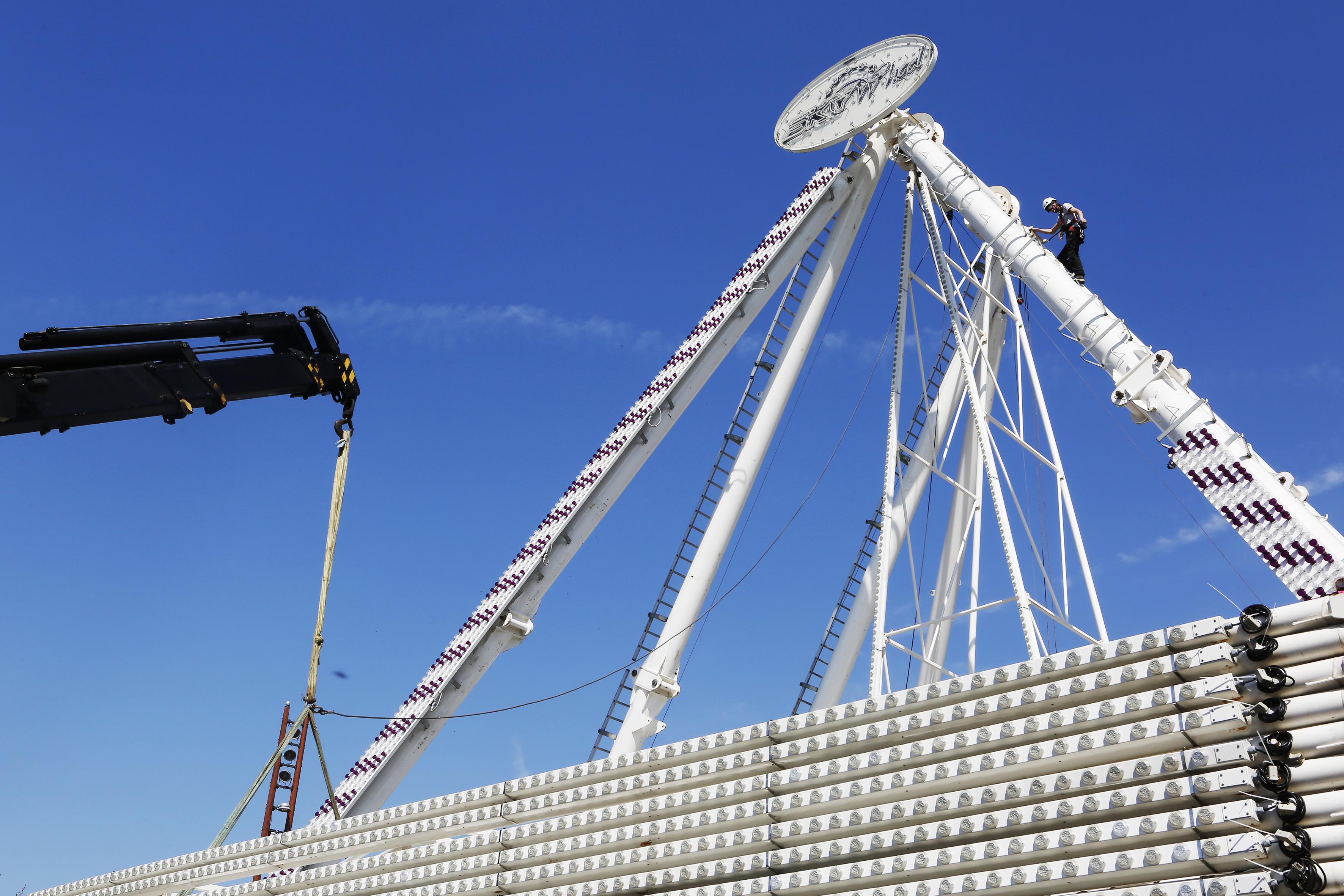 Dit jaar is het zeldzaam geworden reuzenrad de publiekstrekker op kermis in Hilversum