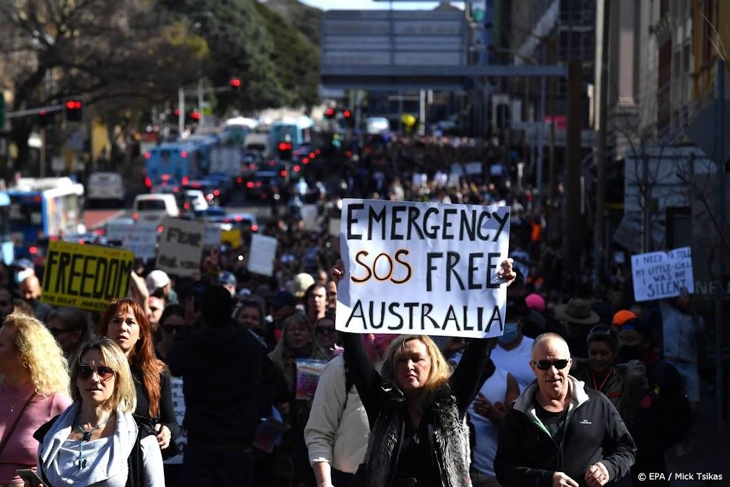 Felle betogingen tegen lockdown in Australie