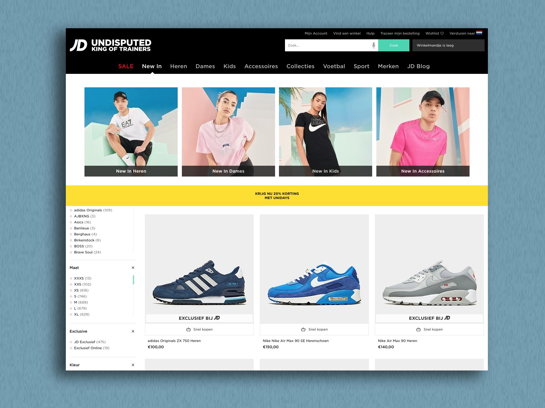 JD Sports gaat klanten van de webwinkel beter informeren op aandringen van de ACM