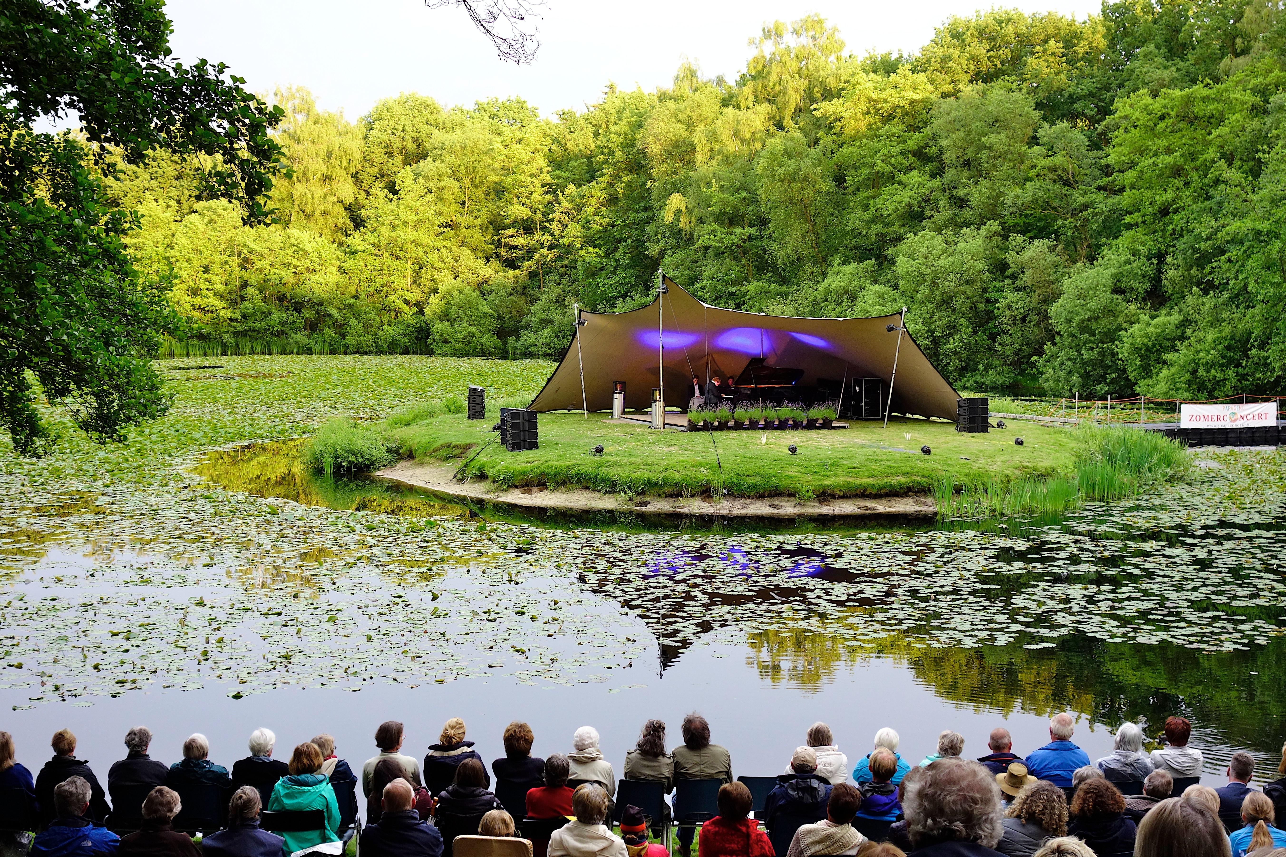Eiland Rust Wat decor voor concert Guus Meeuwis