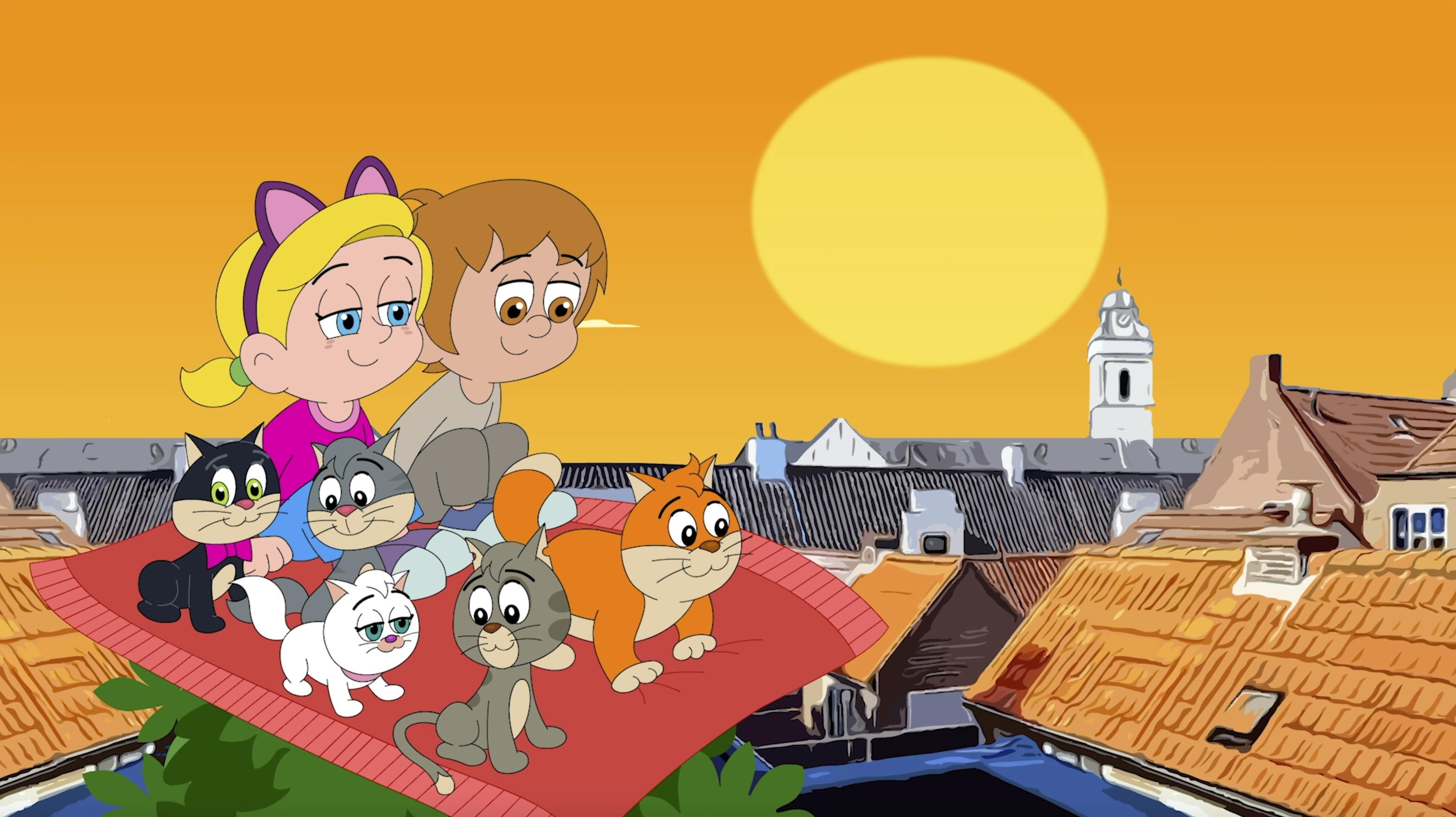 Katwijkers maken tekenfilmserie 'De Kattenclub' voor jonge kinderen: 'Het eigen dorp dient als inspiratiebron' [video]