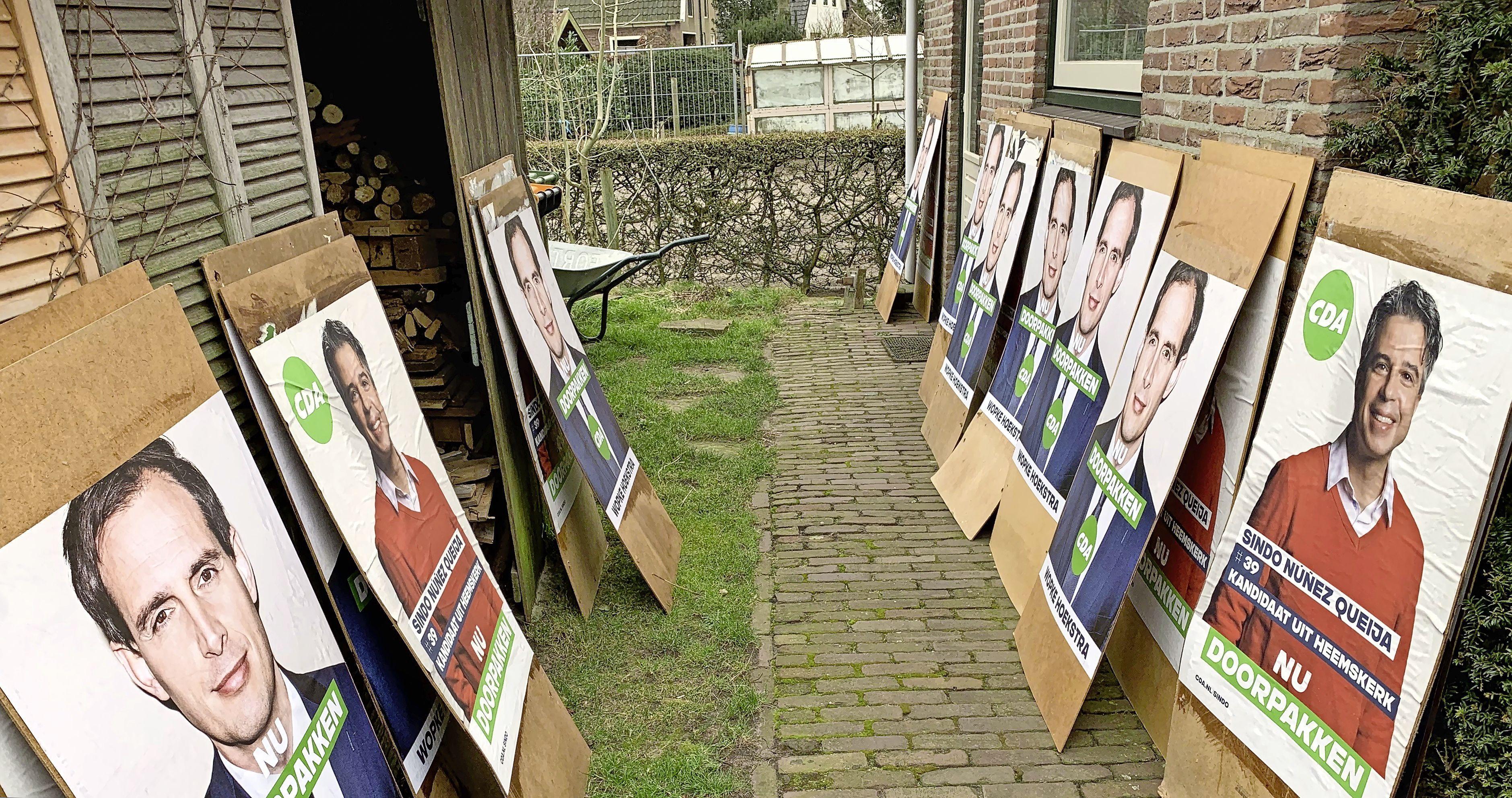 CDA Heemskerk klaar voor de verkiezingsstrijd, met Sindo en Wopke op de borden