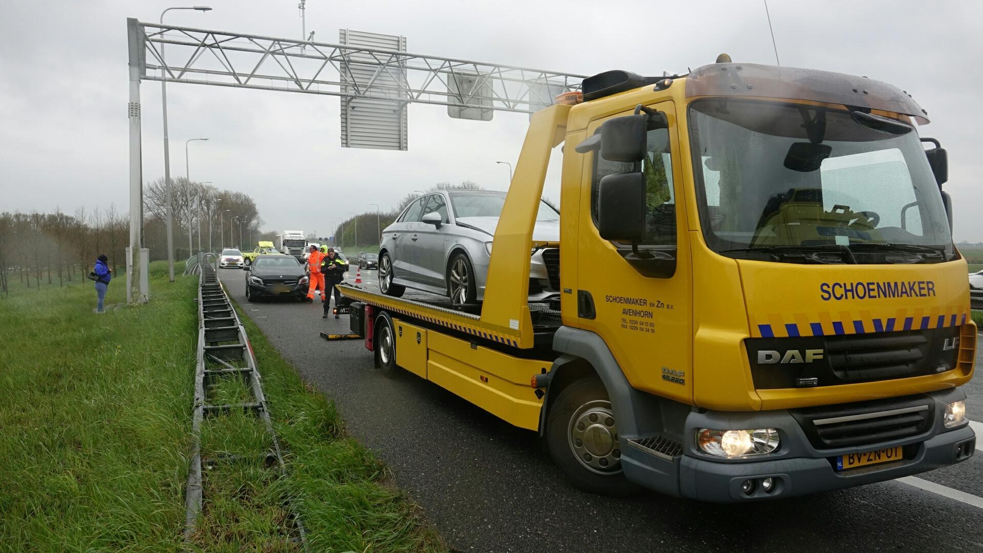 Afrit A7 Hoorn afgesloten na ongeval met meerdere voertuigen