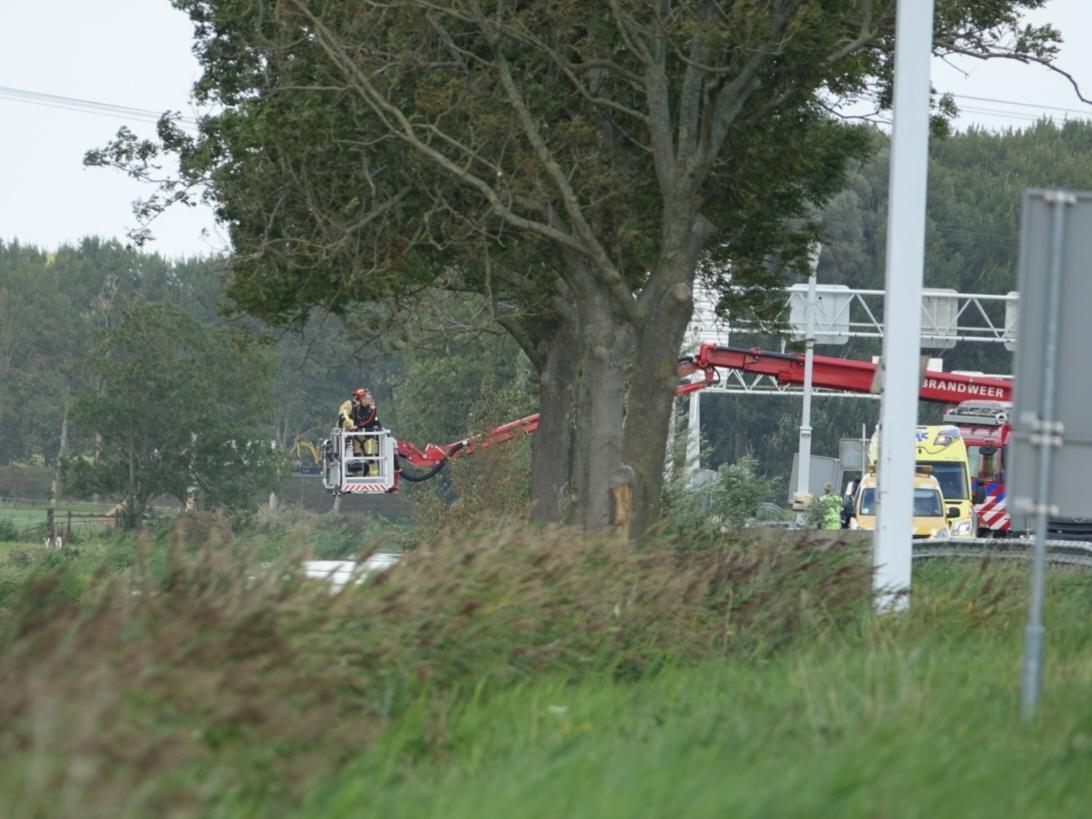 Spectaculaire reddingsactie op A7 bij Wijdewormer zorgt voor vertraging