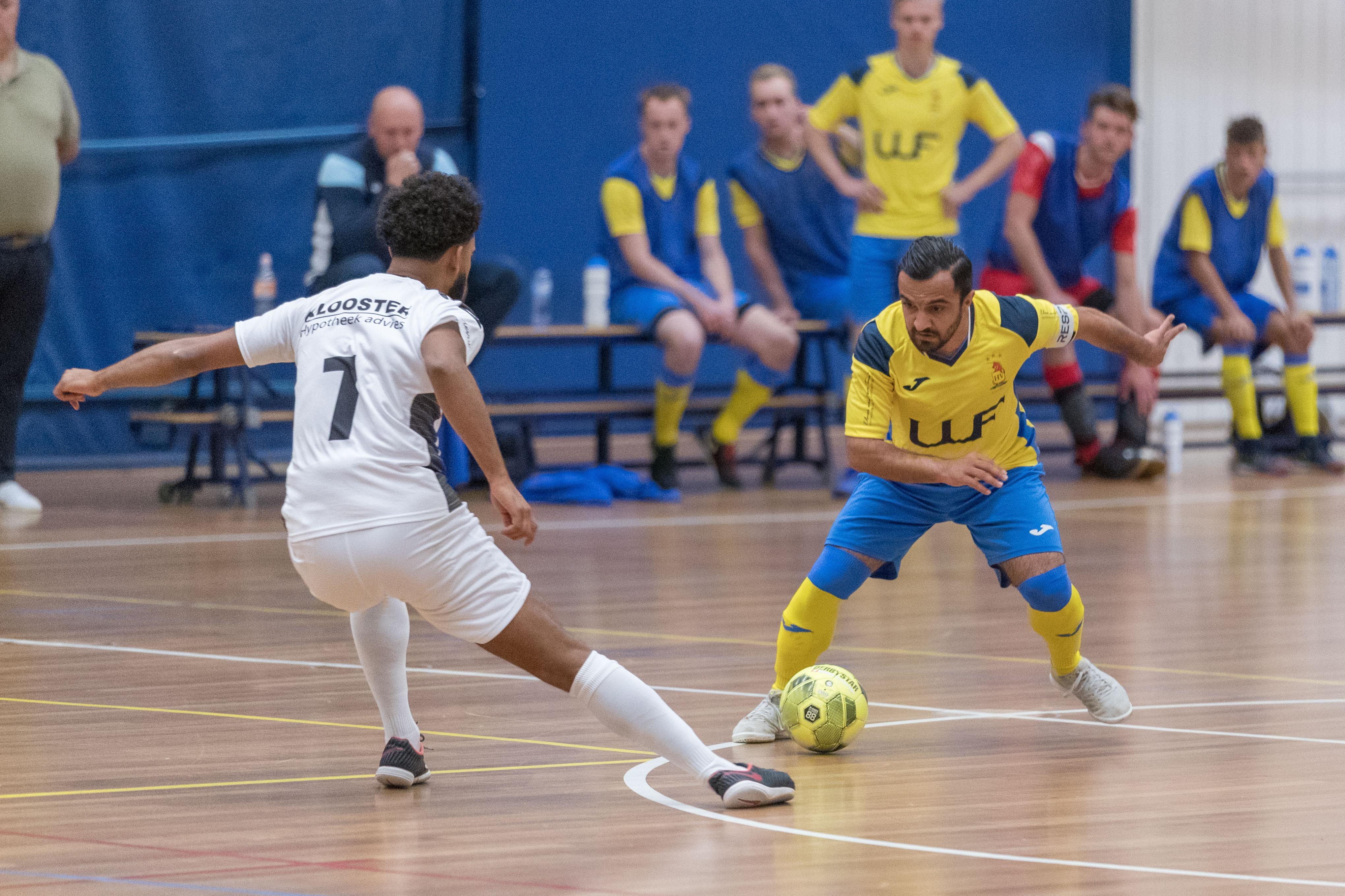Eerste puntverlies voor vernieuwde zaalvoetbalploeg HV/Veerhuys door eigen goals