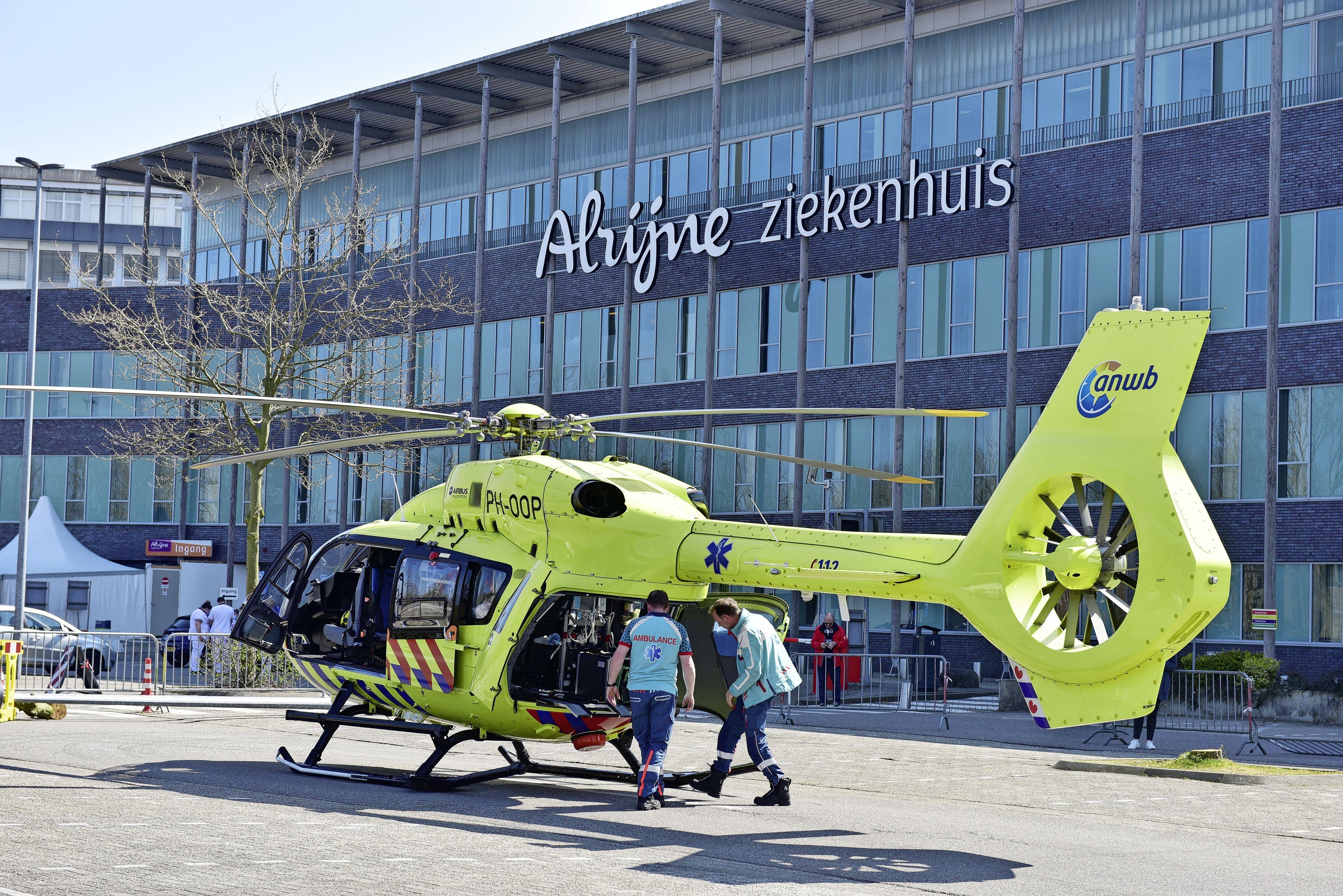 Alrijne: parkeerplaats in Leiderdorp nu ook landingsplek voor de traumahelikopter