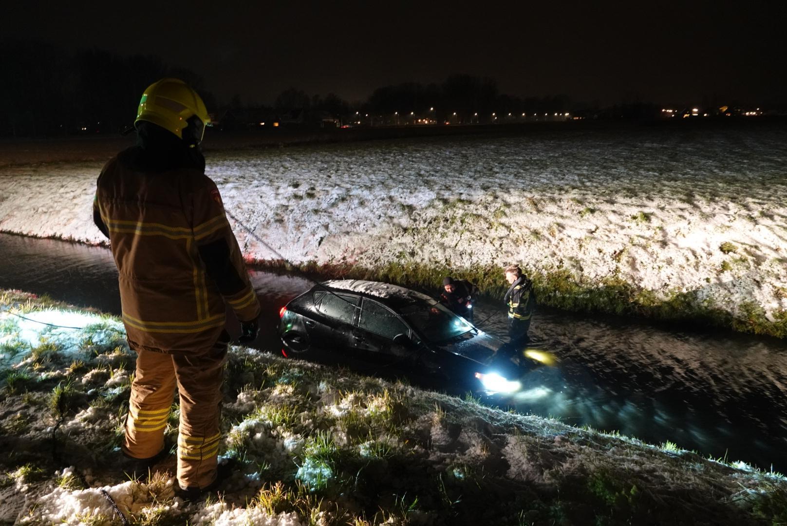 Chauffeur raakt te water in Abbekerk, maar is nergens te bekennen