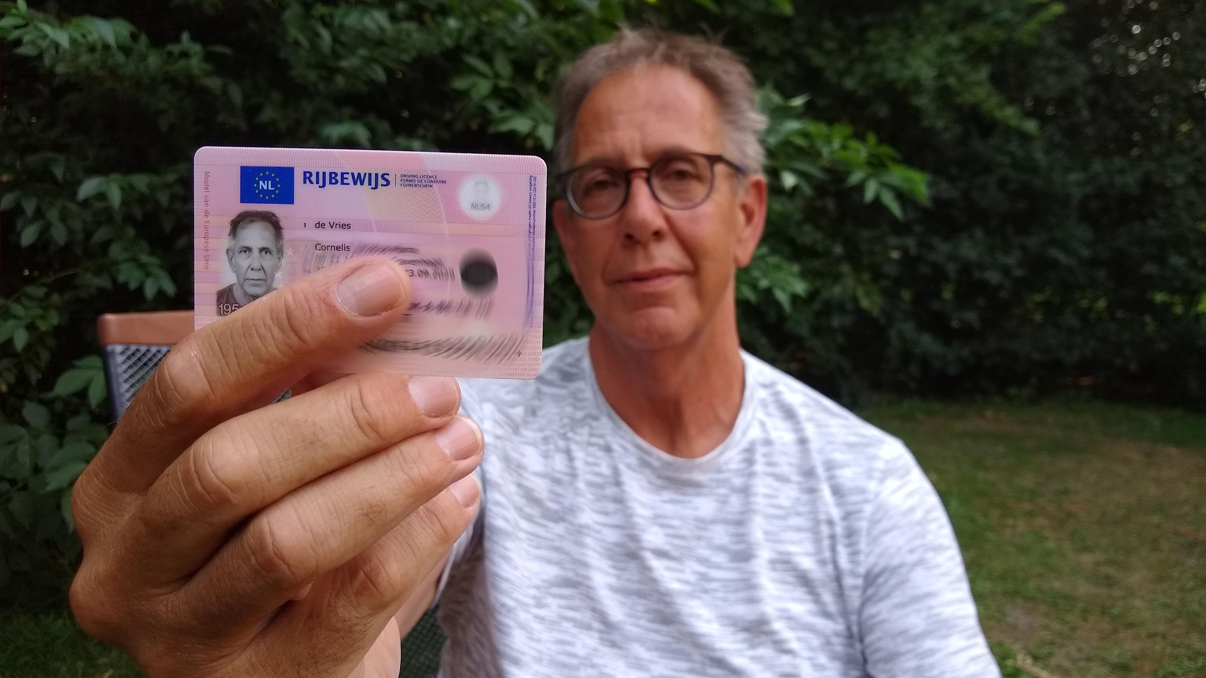Vijf keer op de foto voor nieuw rijbewijs