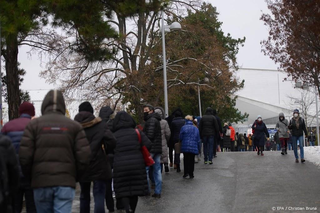 Minder toeloop op tweede dag massale testcampagne in Oostenrijk