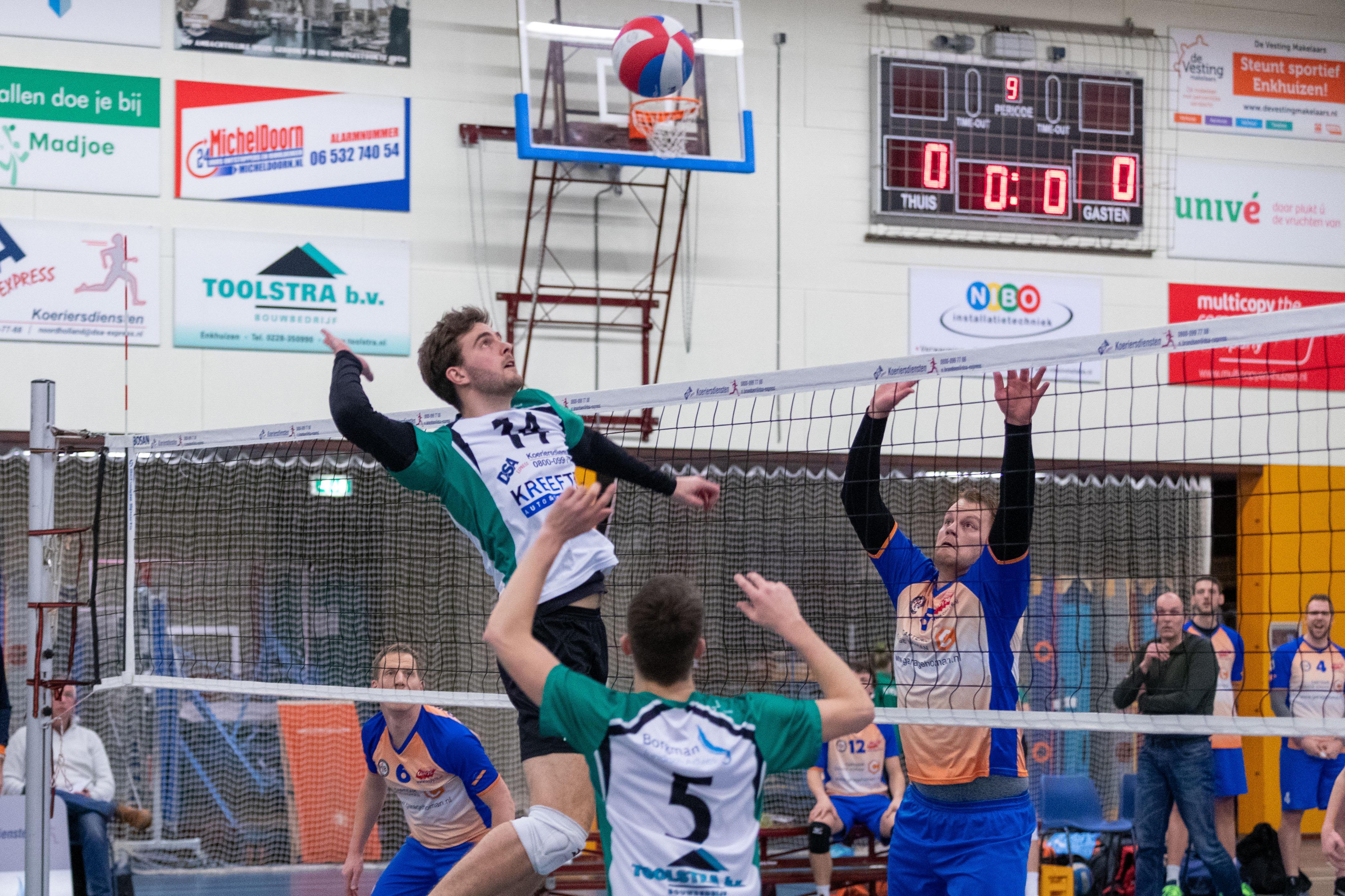 Volleyballers Madjoe vrezen door coronavirus naast de titel én promotie te grijpen, ondanks straatlengte voorsprong van elf punten