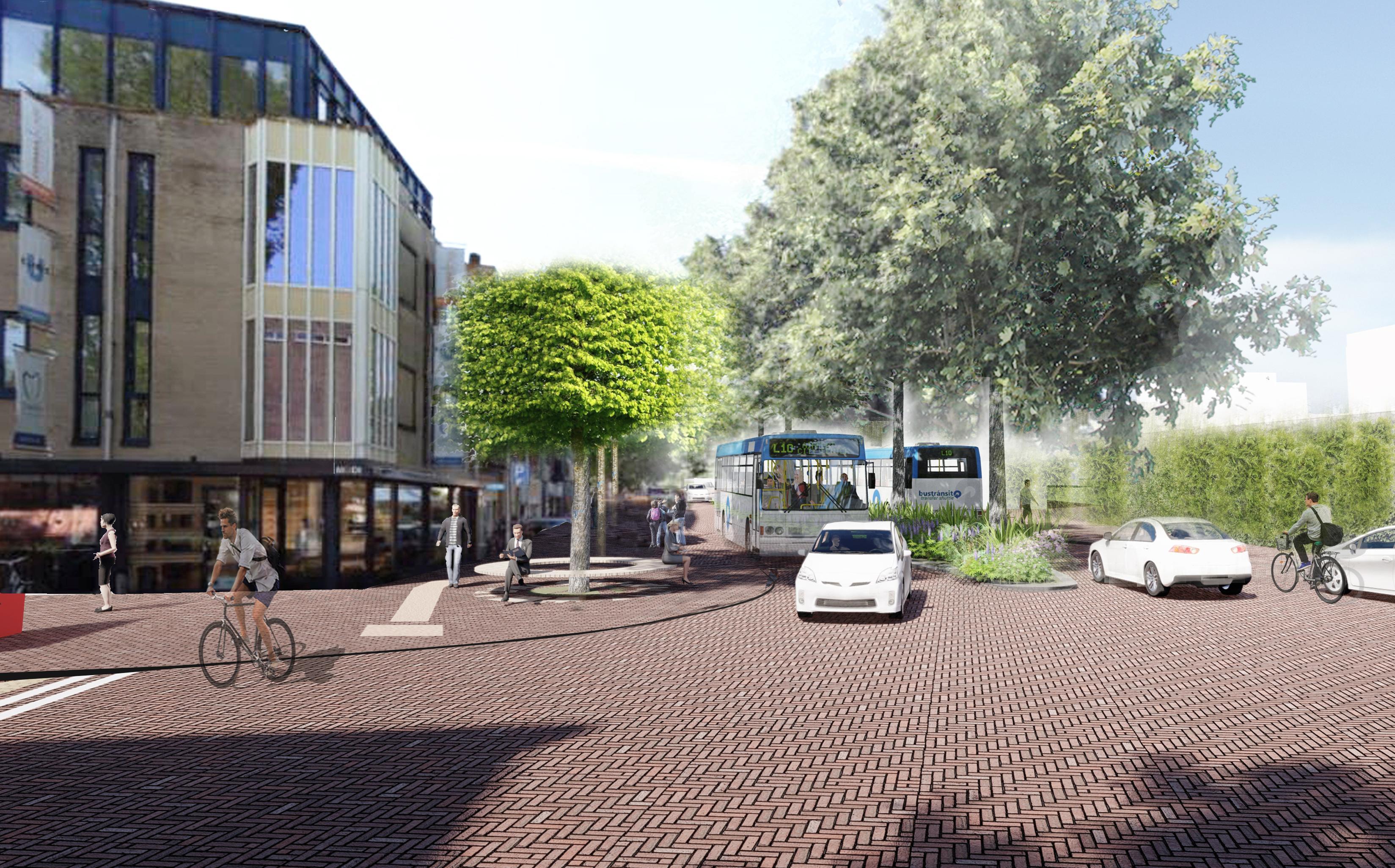 Vlietlaan moet een rode loper naar het centrum van Bussum worden; meer ruimte voor voetganger en fietser ten koste van automobilist