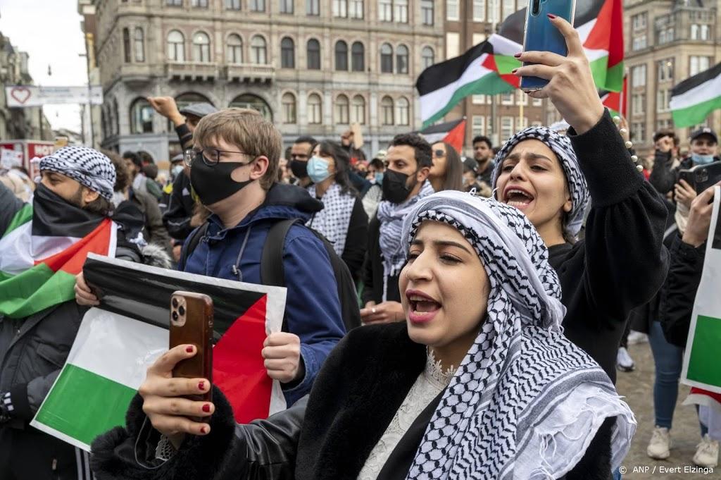 Honderden mensen op Dam voor Pro-Palestina demonstratie