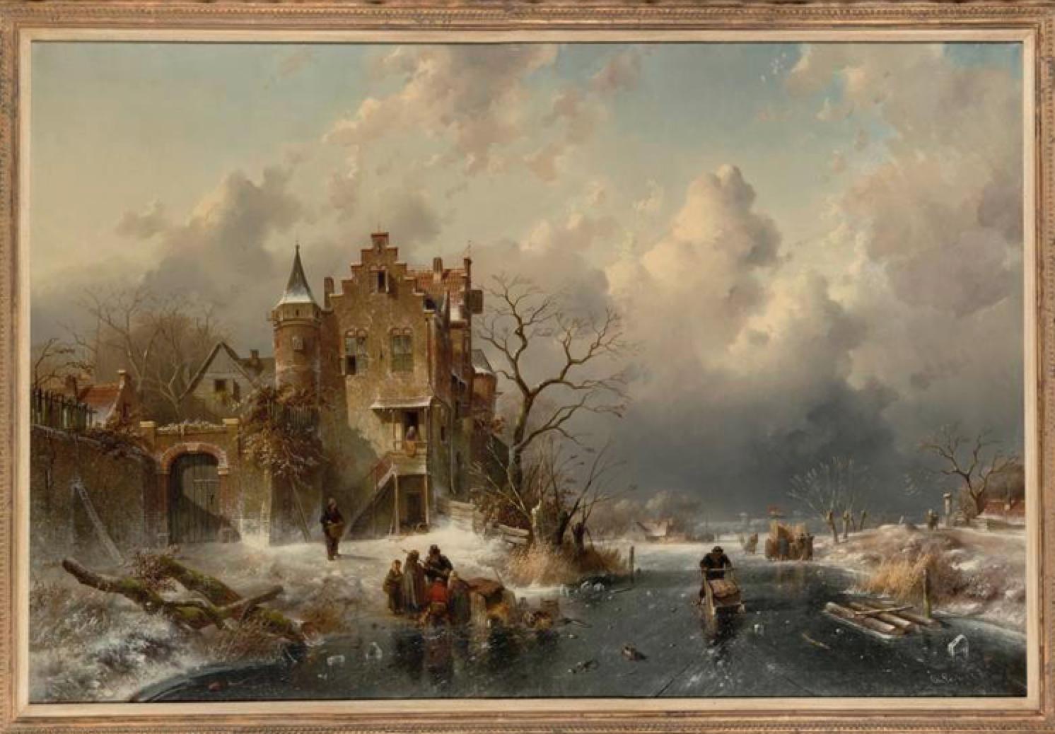 Donatie winterlandschap Charles Leickert aan Teylers Museum Haarlem
