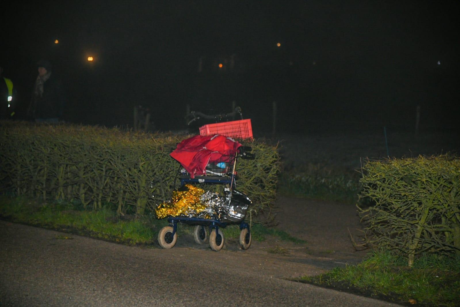 90-plusser aangereden in Ankeveen, automobilist rijdt door
