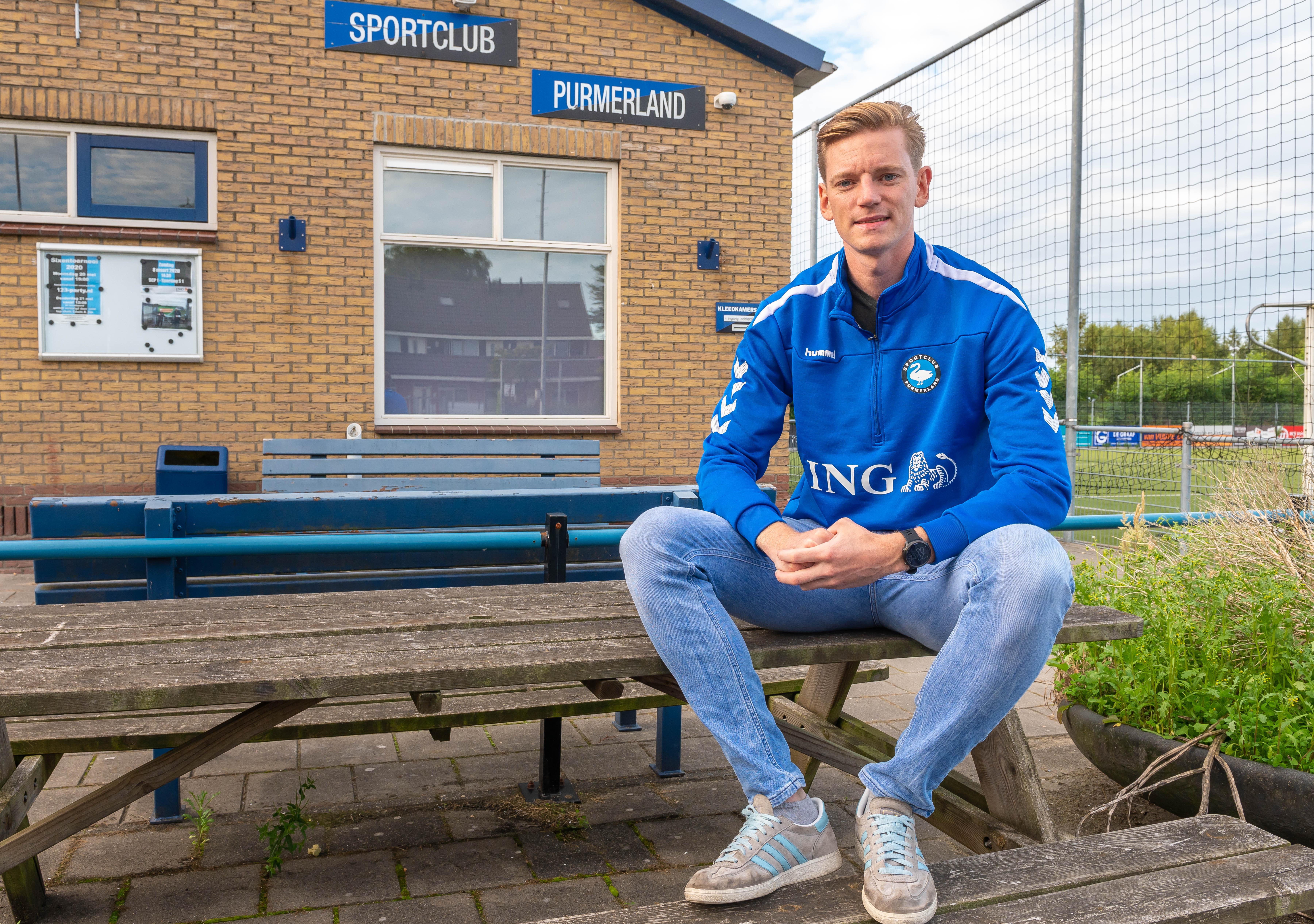 Belgische voetballer Martijn Vranken na wereldreis neergestreken bij Purmerland: 'In Noord-Holland is er een andere mentaliteit, mensen zijn wat harder'