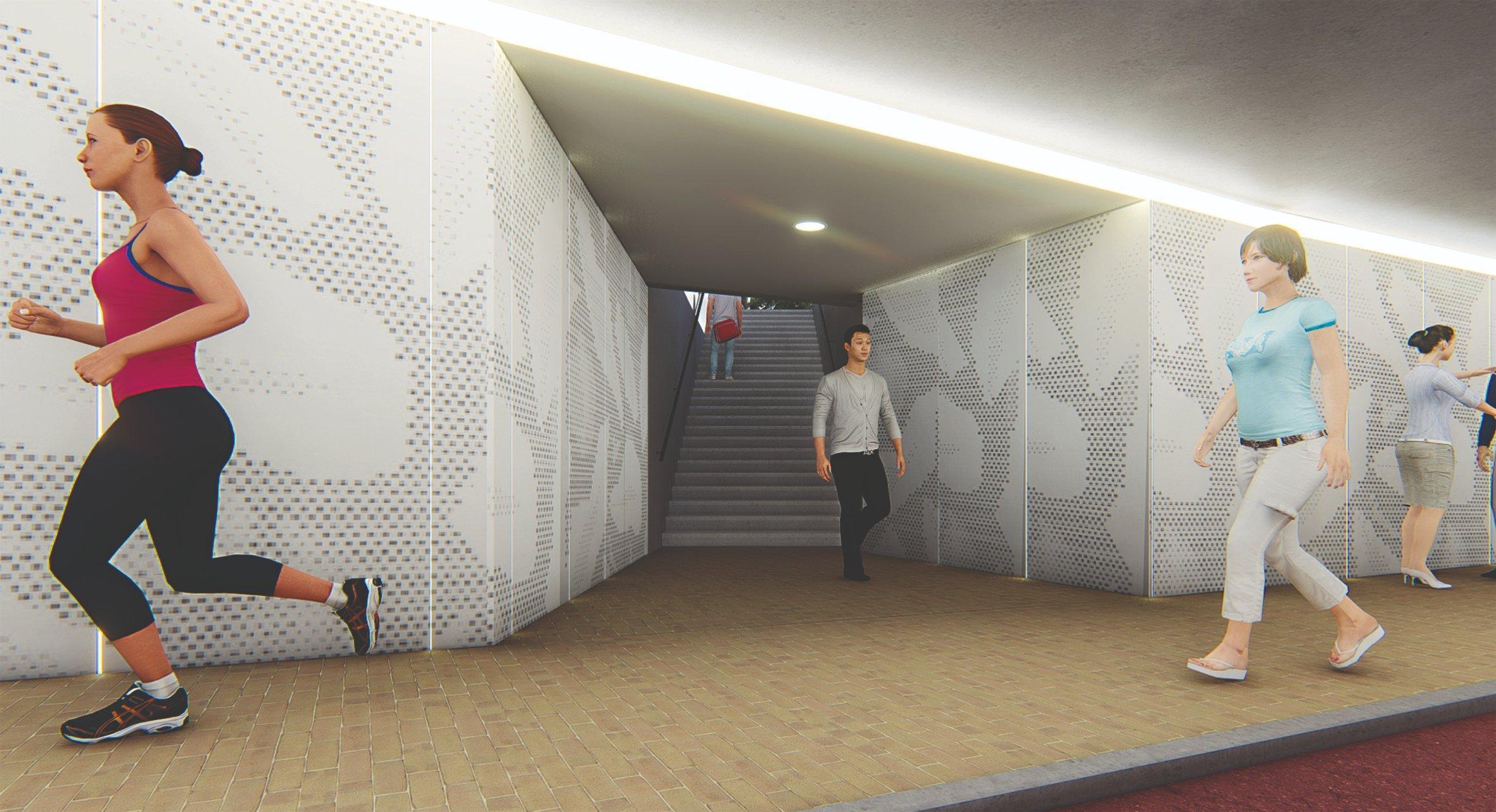 Oosterengwegtunnel krijgt kunstzinnige gaatjes; Hilversummers mogen kiezen uit drie ontwerpen van Louise Hessel