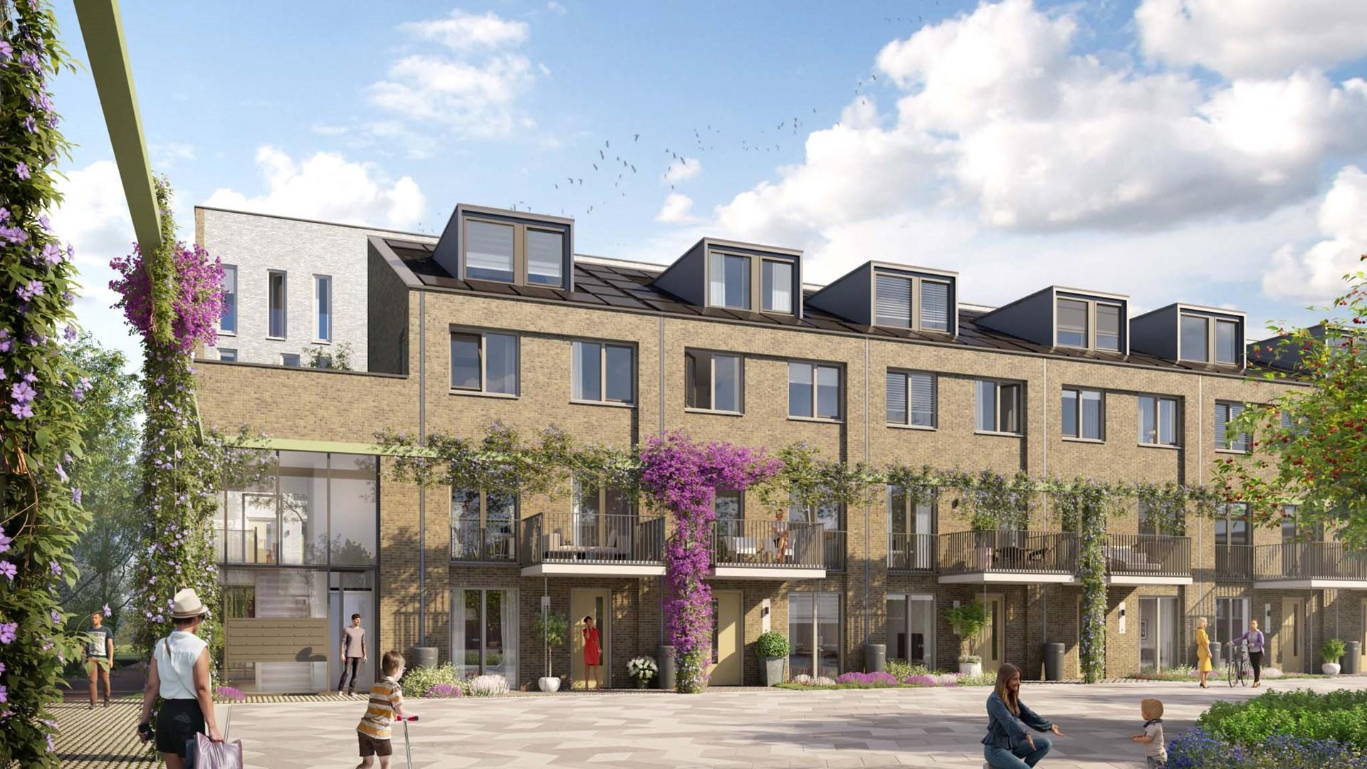64 nieuwbouwwoningen rondom slachthuis in Haarlem-Oost in de verkoop: 'Dit moet een buurt worden waar men elkaar 'goedemorgen' zegt'