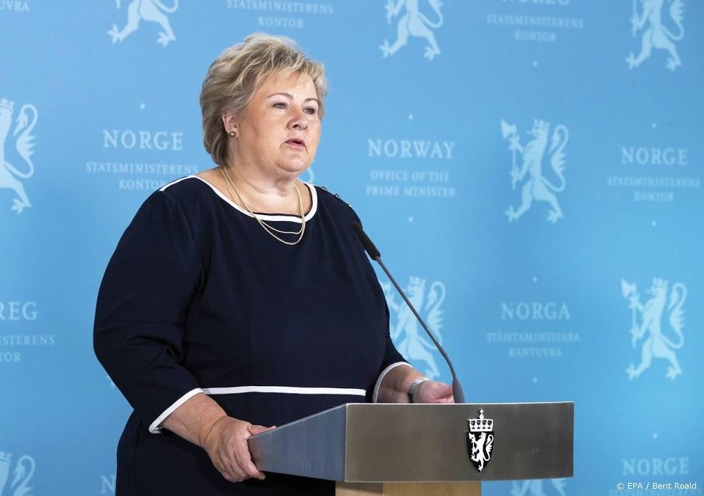 Noorse premier krijgt hoge boete wegens overtreden coronaregels