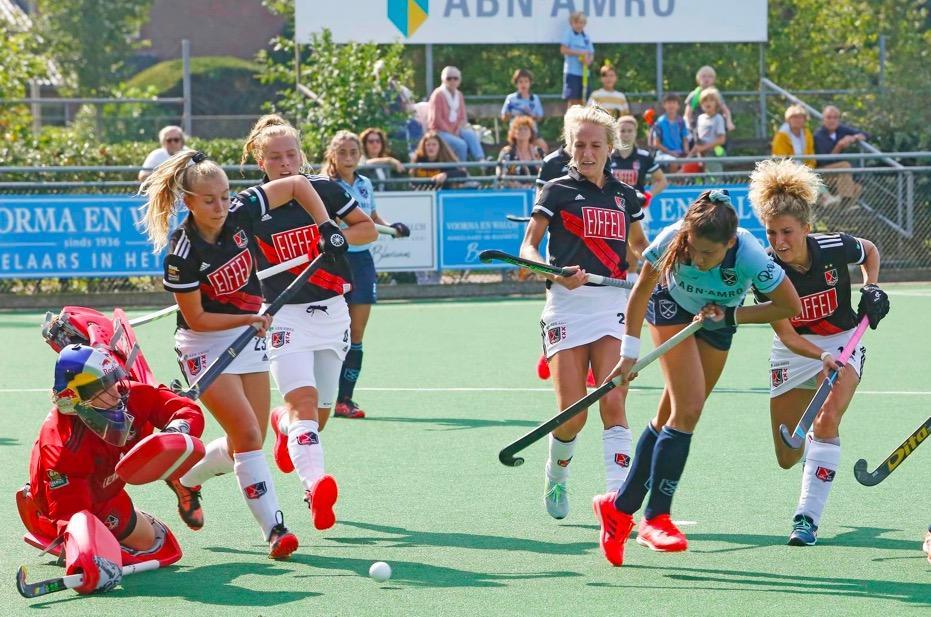 Laren laat tegen landskampioen Amsterdam zien in korte tijd grote stappen te hebben gezet: 'Die 9-0 in de voorbereiding was een enorme poffer op de neus' [video]