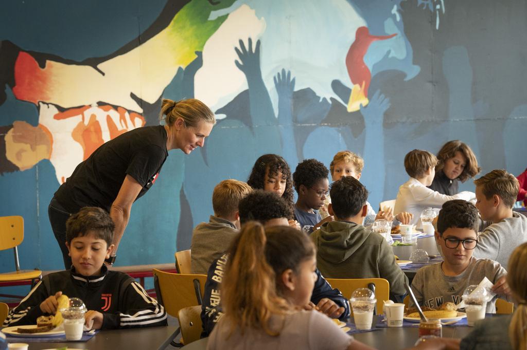 Sportweek bij het Leonardo college: vier olympisch sporters vertellen over het belang van ontbijt