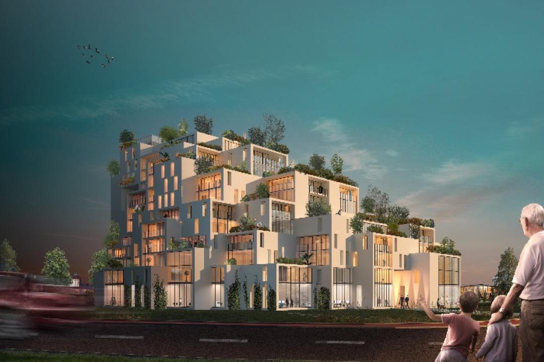 Burcht van Oudorp telt 150 woningen. De transformatie van bedrijventerrein Oudorp krijgt een gezicht