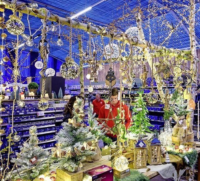Bij Global Garden in Zwaanshoek is het al Kerstmis